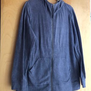 LOGO Lounge purple gray zip up hooded jacket